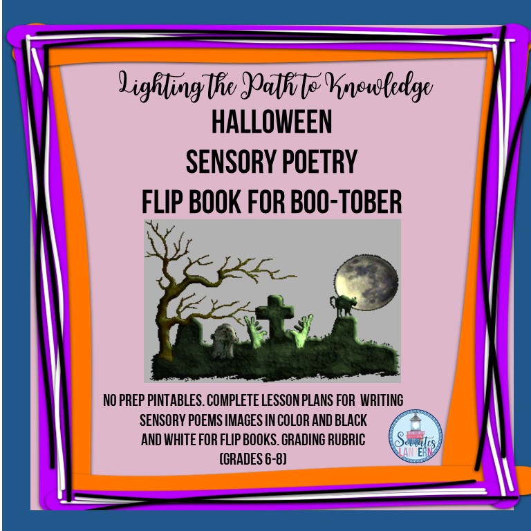 Halloween Sensory Poetry Flip-Book for Boo-Tober