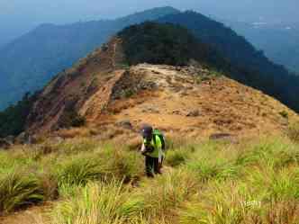 Fellow hiker Samantha going up Tarak Ridge