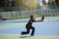 Josephine Hosner, number one singles, follows in the footsteps of her dad and uncles as champion Vicksburg tennis players.