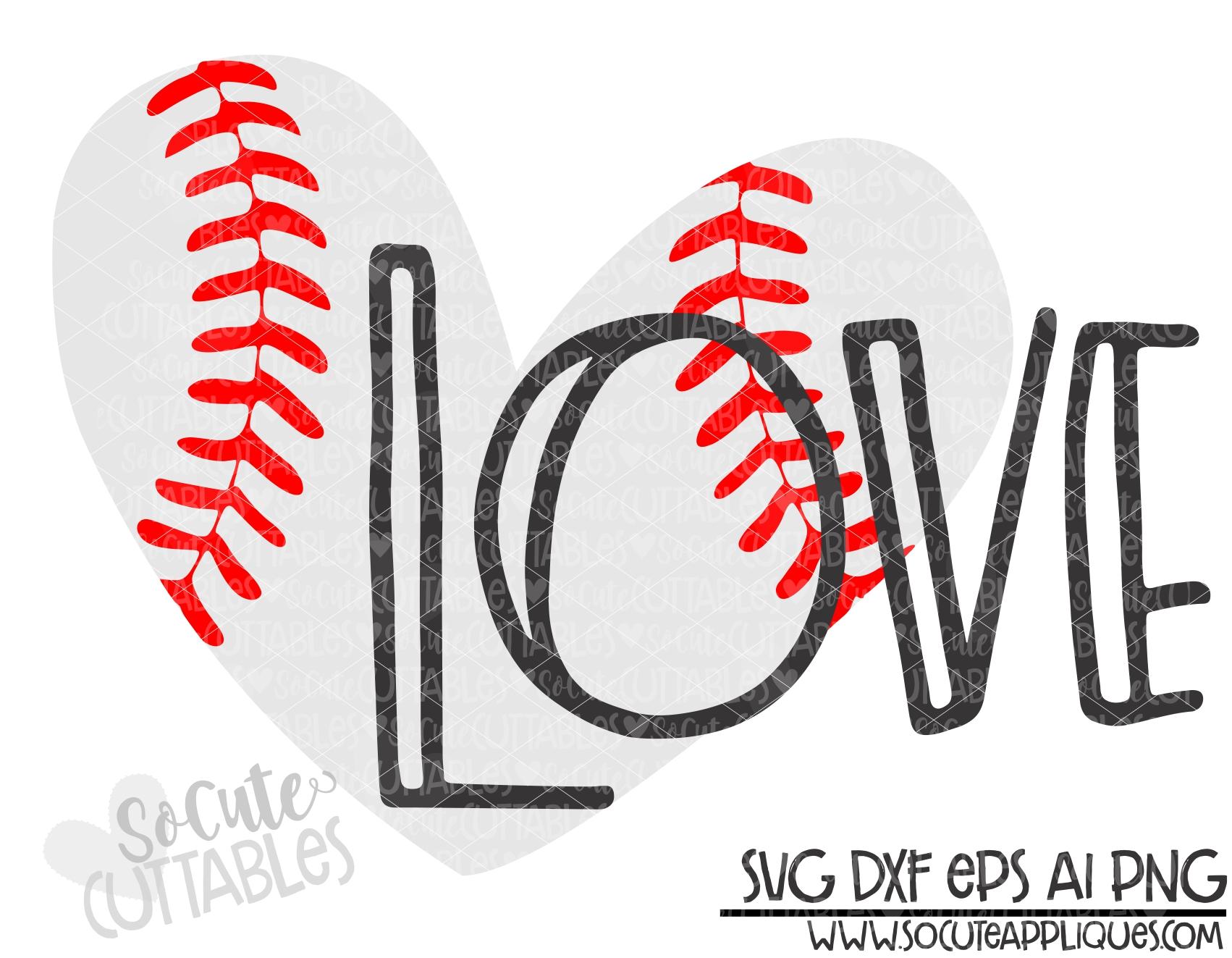 Download love baseball heart 19 scc SVG - socuteappliques.net
