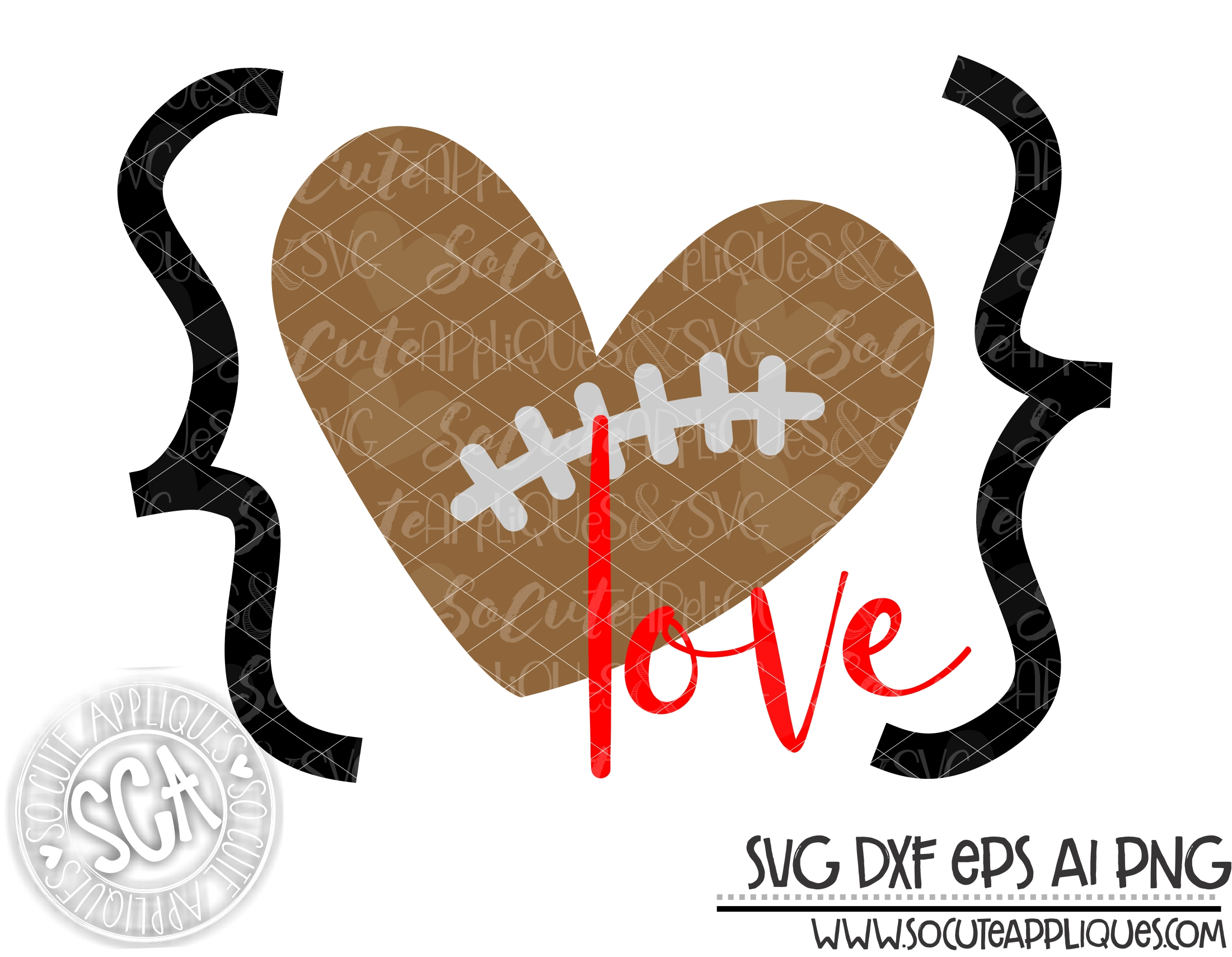 Download Football love quotes heart 19 svg sca — socuteappliques.net