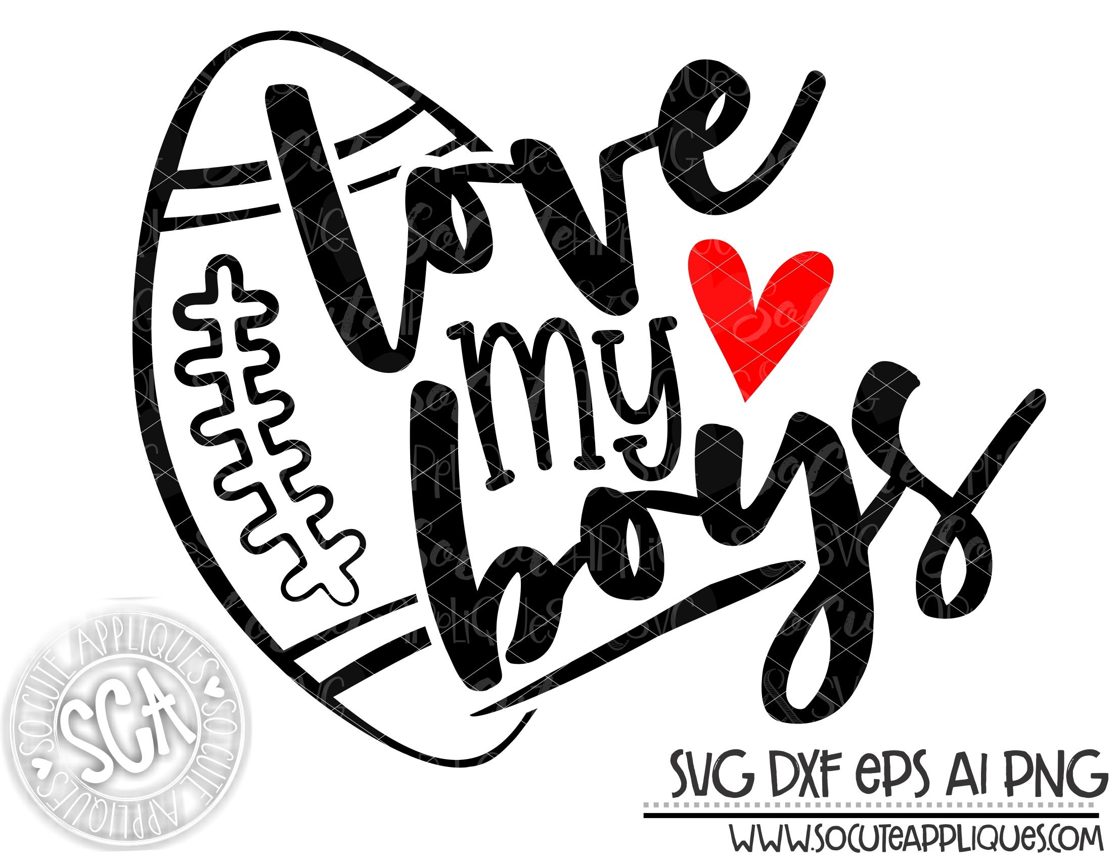 Download Love my boys football 19 svg sca - socuteappliques.net