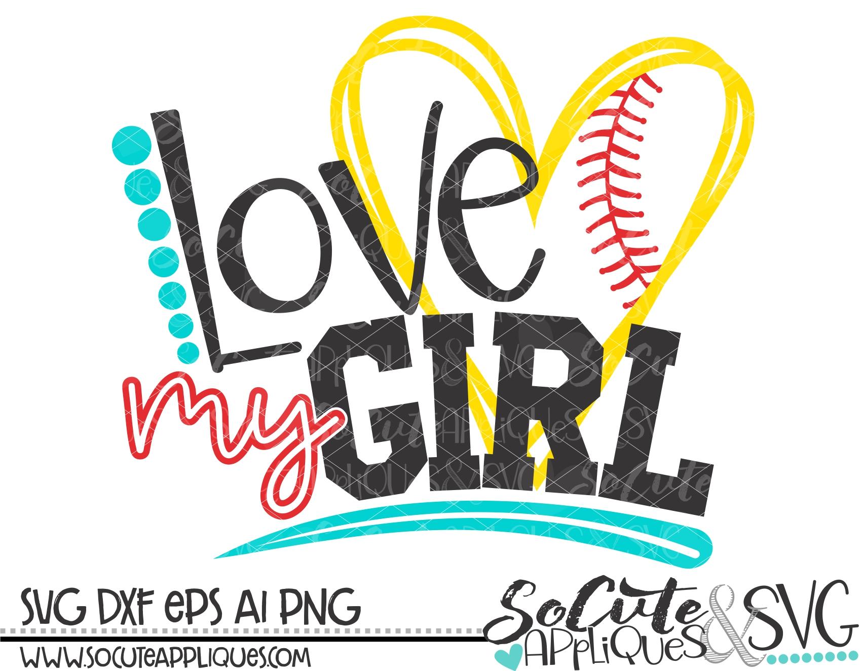 Download love my girl heart softball 18 svg sca - socuteappliques.net
