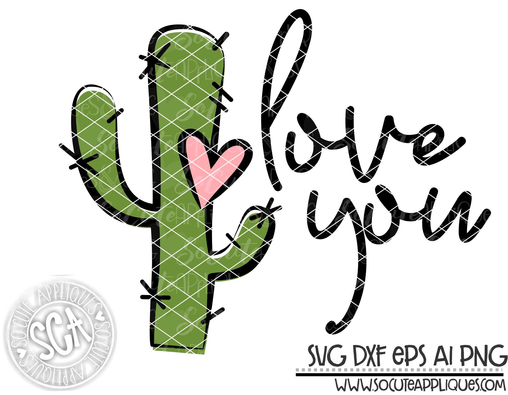 Download love you cactus 18 svg sca - socuteappliques.net