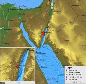 אתר אמריקאי העוקב אחרי רעידות אדמה טוען שנקודת המרכז הייתה בדיוק במקום בו חצו בני ישראל את הים