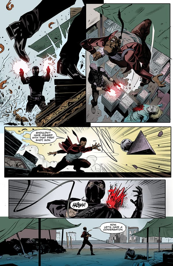KILLERS #1 – NINJAS. SPIES. MI6. And the feeling of not having read a story about any of that. 1