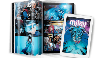 MILKY #2 - Sci Fi, Monsters and Romance. Highly worth your Kickstarter Pledge! 9