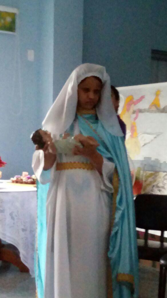 Visita Natalina das Madrinhas e dos Padrinhos: Tias Ângela e Fernanda.
