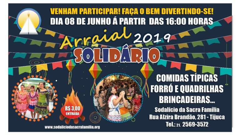 Arraial Solidário 2019: Vamos participar!
