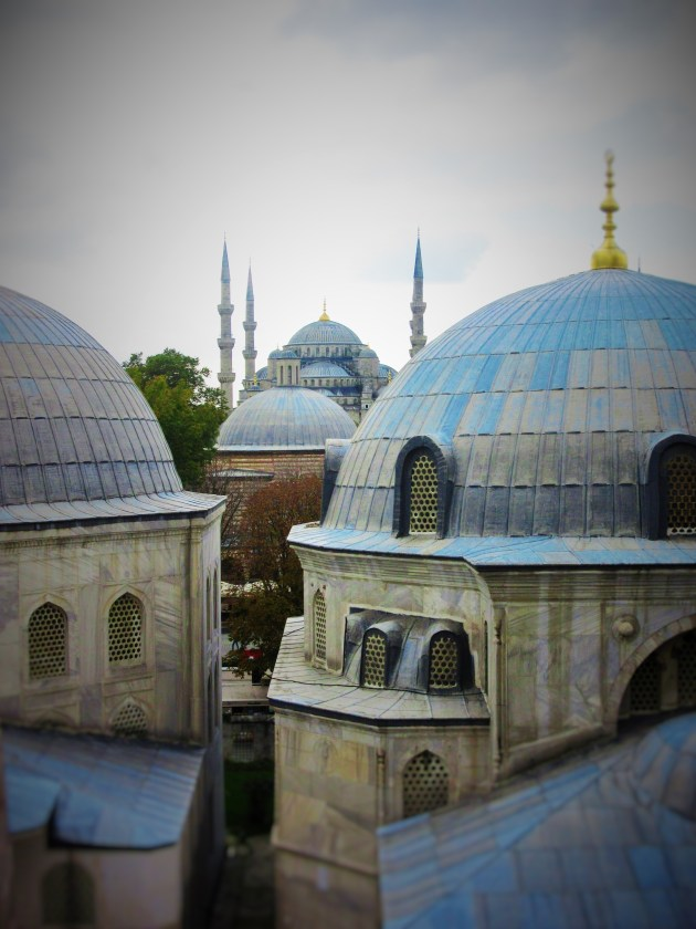 The Blue mosque from Hagia Sophia