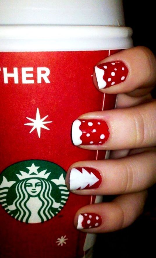 blogmas 2015, day 10, festive christmas nail art, red and white, snowflakes, inspiration, goals, glitter, stars, jewels, snow and a christmas tree