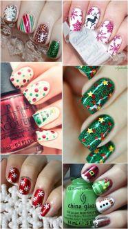 blogmas 2015, day 10, festive christmas nail art, the best, aesthetics, inspiration, goals, artsy, tumblr, pinterest - mistletoe, stars, christmas lights and tree, snowflakes, elf