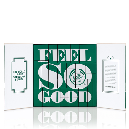 blogmas 2015, day 7, advent calendars 2015, 24 days until christmas - the body shop (green) - beauty, tumblr, pinterest, artsy