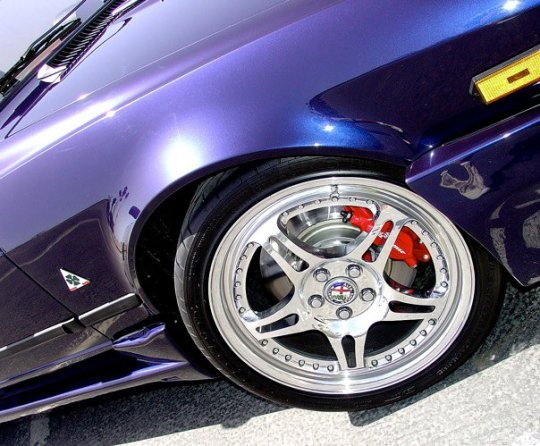 The HRE 540 forged wheels