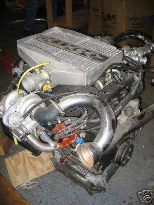 Original images of the Callaway intercooler and turbo on the 2.5 engine from the eBay listing