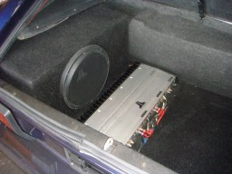 Bespoke stereo included an amp and sub-of