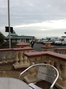From the terrace looking to the Leas Cliff Pavilion in 2013