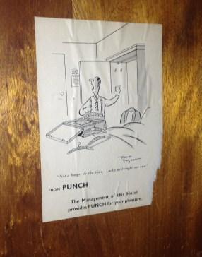 An old Punch cartoon still inside it.
