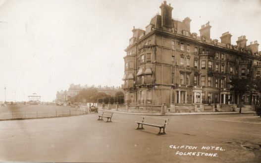 The Clifton © 1920's by the look of the motorbike hack out front