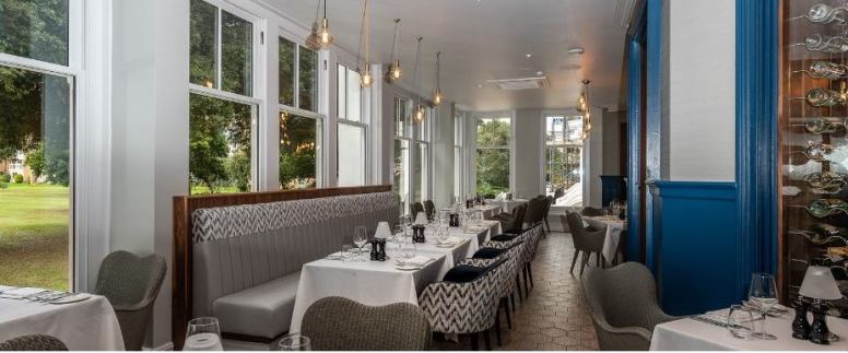 The garden court of the new restaurant just as it opened for the first time. Lovely locale for a breakfast.