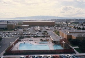 Another view from my dorm room window in better weather. The DT pool scene of some scandals I shall not mention here