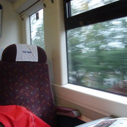 On the train in '06. This was the year I went across the Channel after Euro for a tour of Normandy