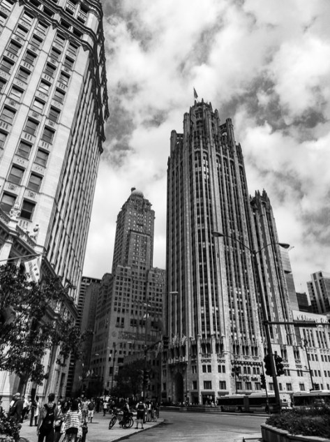 The neo-Gothic Tribune Tower was erected in 1925 as the headquarters of the Chicago Tribune newspaper