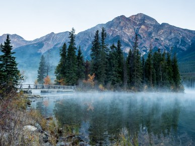 Another pre-sunrise pic. I love the mist rising off lakes early in the morning.