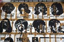 Silkscreen poster, limited and numbered edition, signed by the artist and signed by the group.