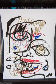 Drawing by the singer of the Kills, unique in the world, signed by Alison Mosshart