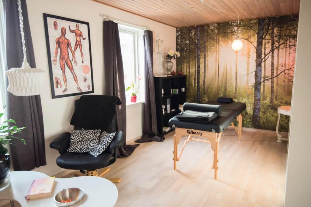Lokalet på Søgården med massage