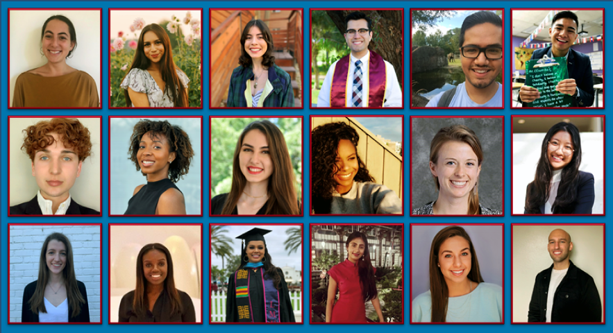 2021.2022 LMU Fulbright SemiFinalists photo collage - Seven SOE Students Named as Fulbright Semifinalists for 2021-22