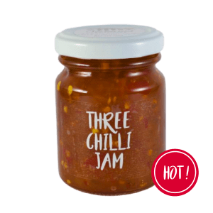 Three Chilli Jam is all you need to ensure a sweet and spicy taste experience. Boasting 3 different chillies, this jam is hot and delicious. Various uses for this jam makes it the perfect companion for both sweet and savoury dishes. Think spicy marinated pork chops, biltong, crackers, chilli jam and cheese. Even as a mouthwatering, hot component on top of a creamy cheesecake. Ingredients: Mixed Chillies, Onions, Lemon Juice, Garlic, Sugar, Vinegar. No Additives No Preservatives Vegan friendly