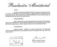 Ministerial Resolution