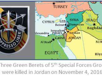 Three Green Berets from 5th SFGA were killed in Jordan 2016