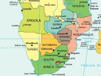 Map of Southern Africa (derived from CIA map)