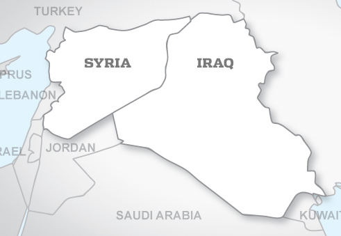 Map of Syria and Iraq (CJTF-OIR)