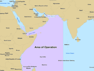 Map depicting the area of operation for NATO's Operation Ocean Shield (NATO map)