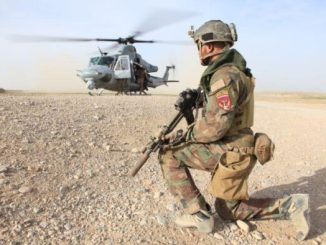 Task Force South West - MARSOC Marine from Special Operations Task Force West provides security at LZ in Nahr-e-Saraj district, Helmand province. (Photo by Cpl. Kyle McNally, 28 Mar 2012).