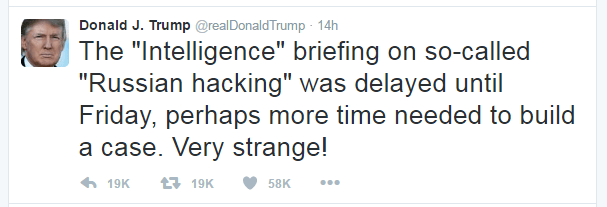 President-Elect Trump's relationship with the CIA and other intelligence agencies are going to be a bit strained.