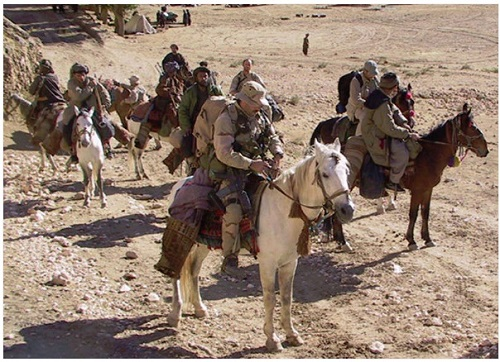 SF used pack animals in Fall 2001 in Afghanistan