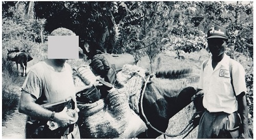 Use of pack animals in Haiti by Special Forces in 1995.