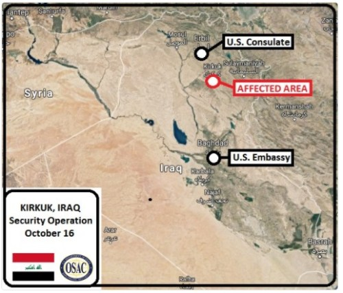 Kirkuk Update - map of disputed area