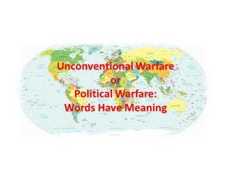 UW or Political Warfare