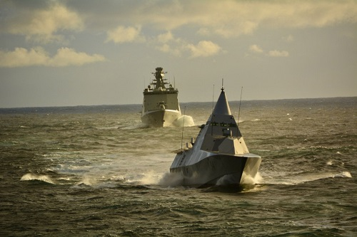 HSwMs Nykoping (Sweden) and HDMS Esbern snare (Denmark) in TJ18