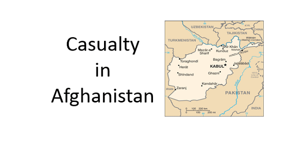 Casualty in Afghanistan