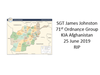 SGT James Johnston KIA Afghanistan June 25, 2019