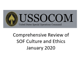 USSOCOM Culture and Ethics Comprehensive Review January 2020