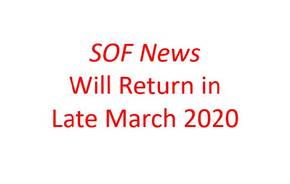 SOF News will return