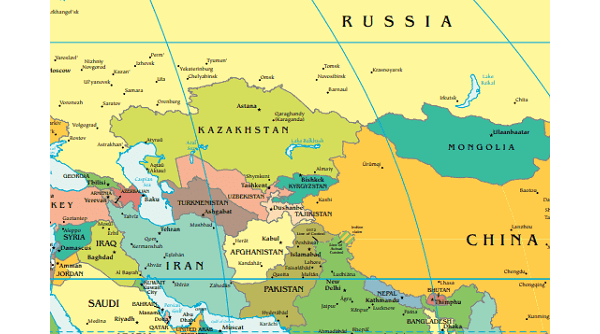Map Central Asia